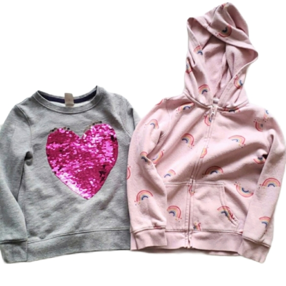 2 for $30 Oshkosh Sweater & Hoodie - size 5 and 5T